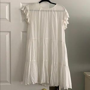 White summer flowy boho chic dress